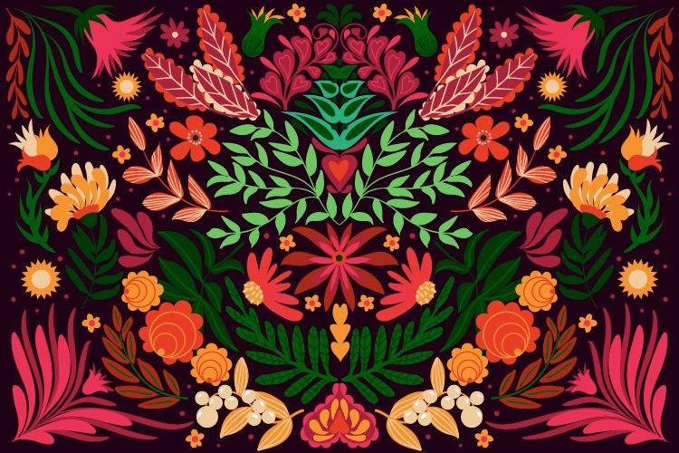 הדפס ציור- חגיגה מקסיקנית לילית
