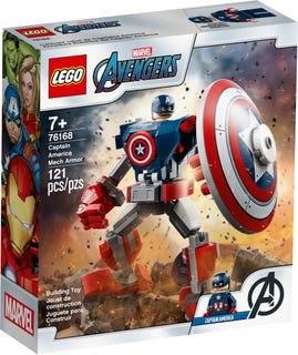 לגו השריון של קפטן אמריקה 76168