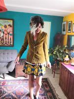חצאית מיני פליסה משי מידה M