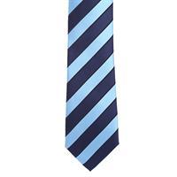 עניבה פסים כחול תכלת