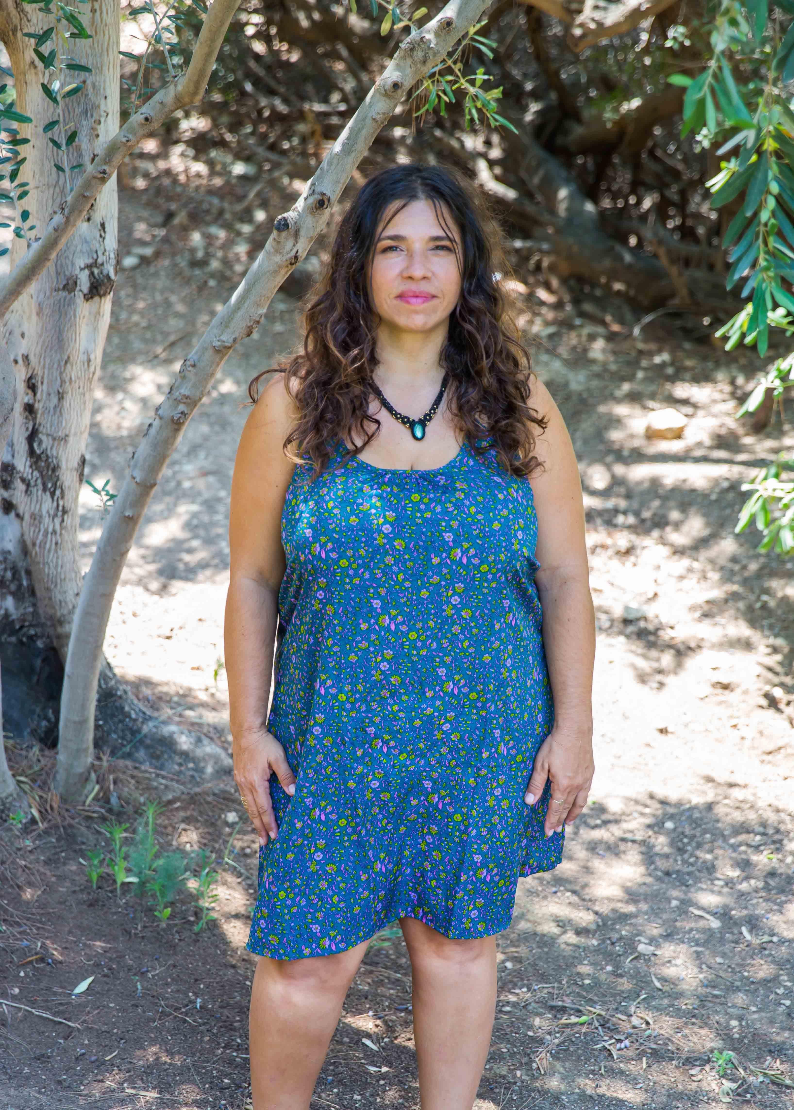 שמלת קשירה חוף טורקיז