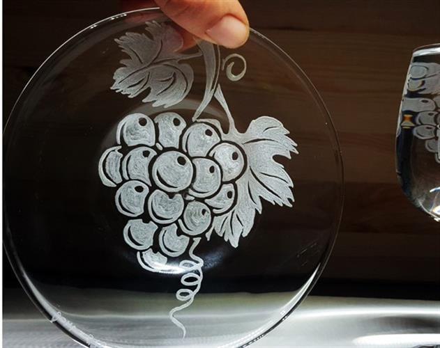 צלוחית תחתית ענבים