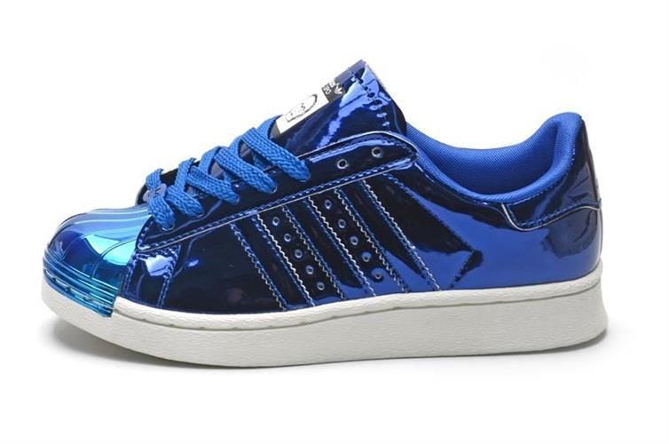נעלי adidas superstar 80s bling metal toe יוניסקס מעוצבות מידות 36-44 blue bling