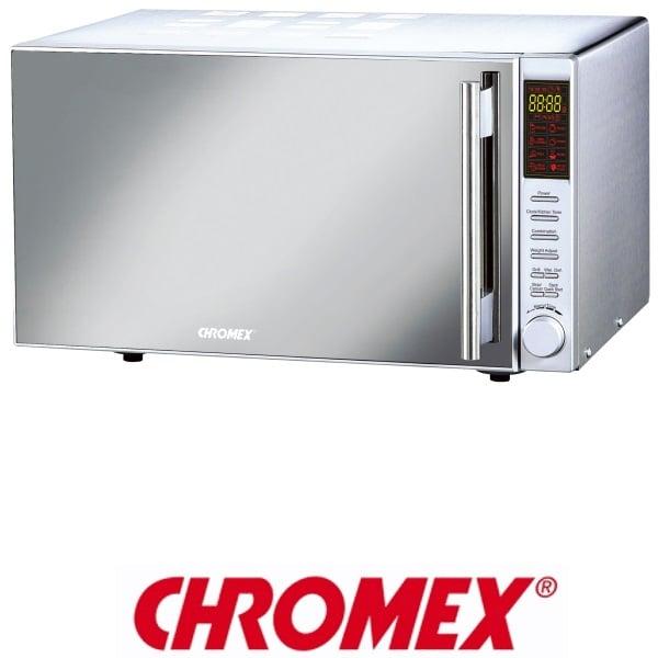 CHROMEX מיקרוגל דיגיטלי נירוסטה 25 ליטר משולב גריל דגם: CH725
