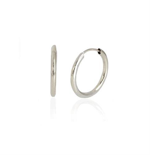 עגילי חישוק  קטנים ועדינים מזהב - עגילים גמישים במיוחד - עגילים קלים לענידה  1.5 סמ