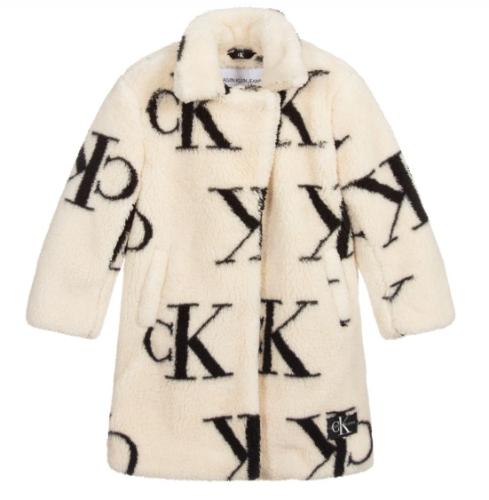 מעיל פרווה - בנות - Calvin Klein - מידות 8-14