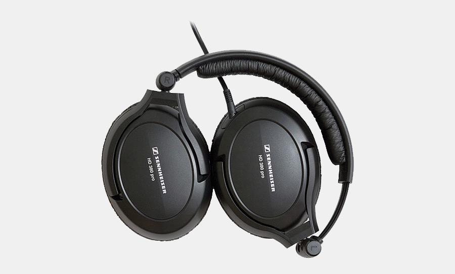 אוזניות חוטיות Sennheiser HD380 PRO, איכות צליל מעולה, קלות משקל ונוחות במיוחד