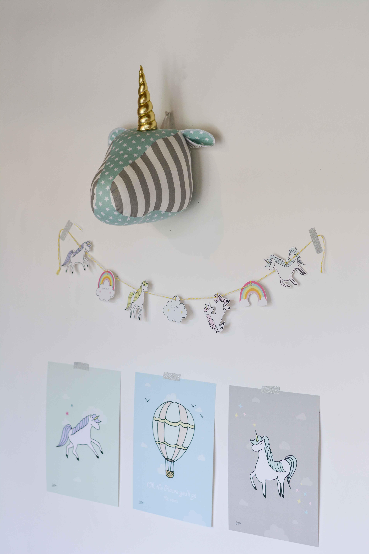 חבילת עיצוב לחדר חד קרן מנטה