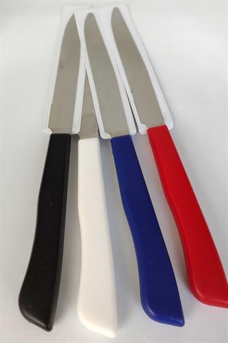 4 סכיני מטבח, רב תכליתיים, בצבעים שונים