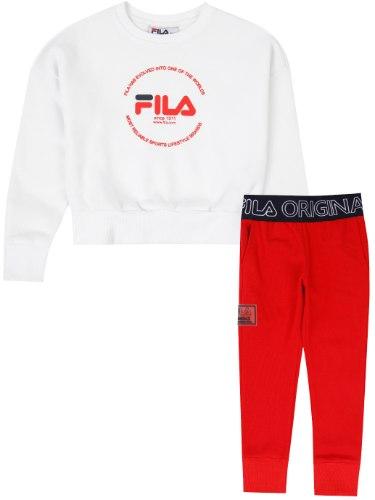 חליפת טייץ לבנה/אדום FILA - מידות 2-8 שנים