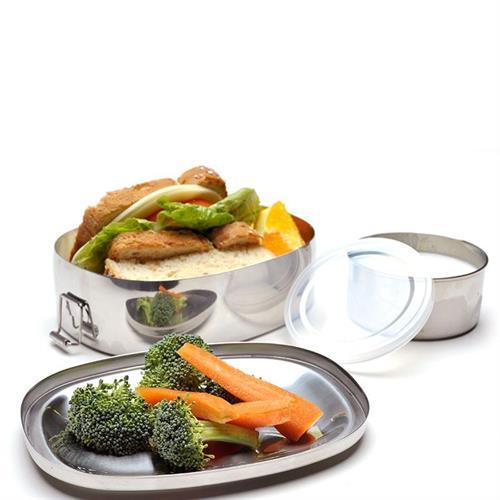 קופסת אוכל אובלית סט שני חלקים