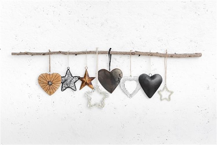ענף מיקס עם כוכבים ולבבות - 8 יח'