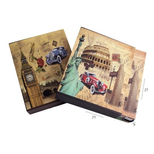 אלבום 200 תמונות מעוצב ערים בקופסה