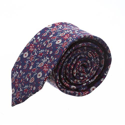 עניבה פרחים משולב אדום כחול