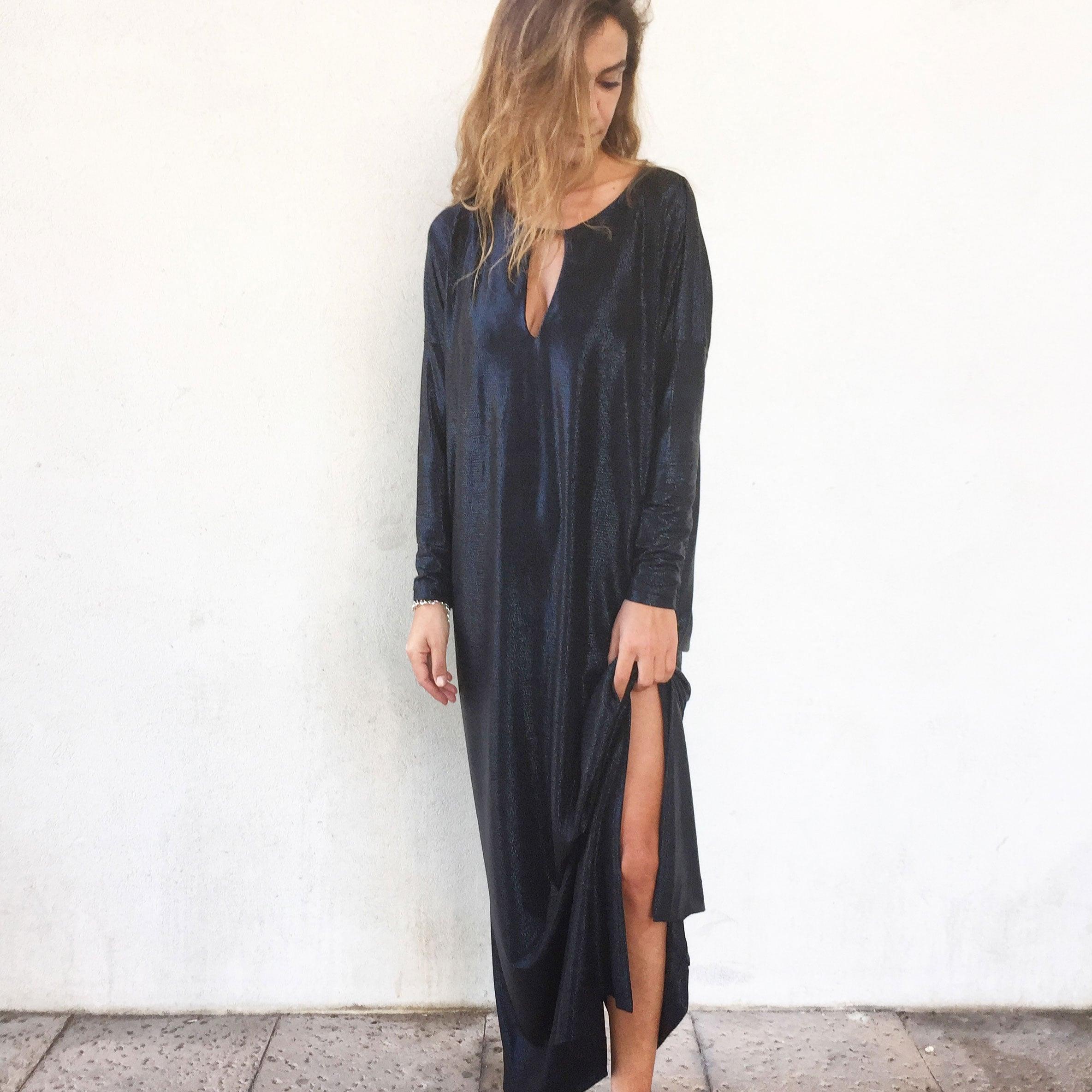 שמלת פאולה שחורה