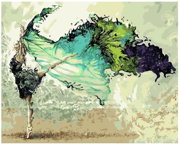צביעה לפי מספרים - לרקוד עם הרוח
