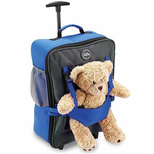 טרולי ותיק גב עליה למטוס 50x34x20 CABIN MAX Bear blue (ללא הדובי)
