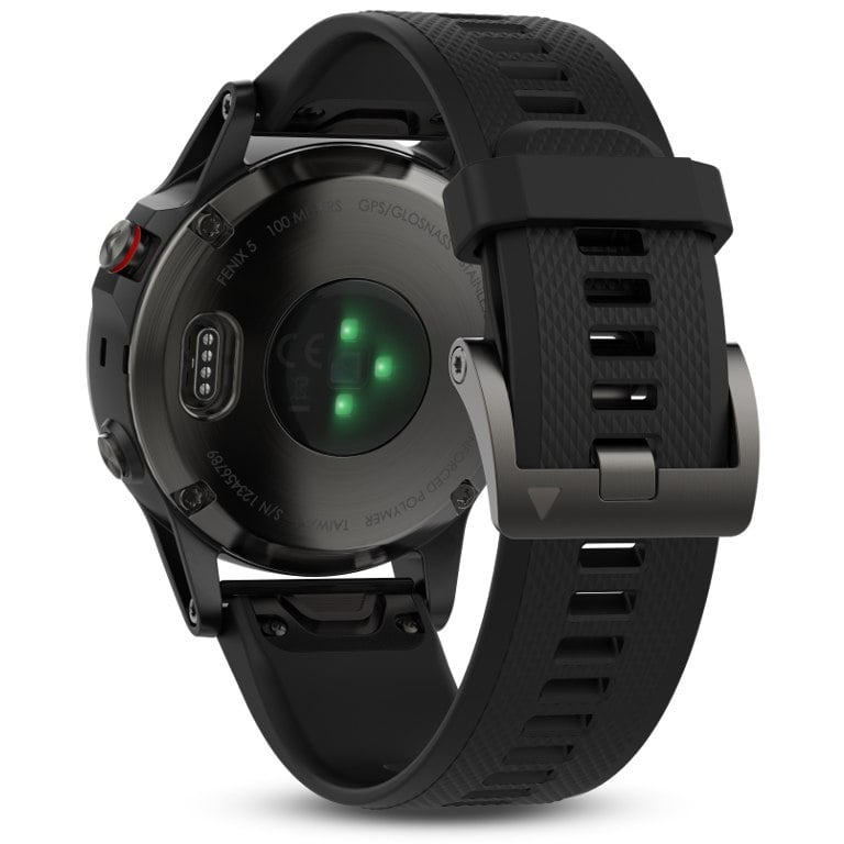 Garmin Fenix 5 Slate gray with black band שעון דופק