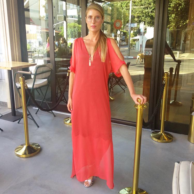 שמלת קראון אדום קורל