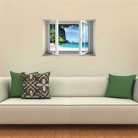 חלון עם נוף של חוף ים בתאילנד דגם 5017