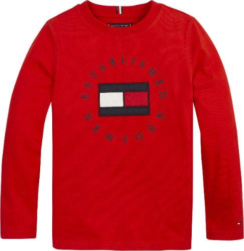 טישירט TOMMY H לוגו רקום אדום 1-16