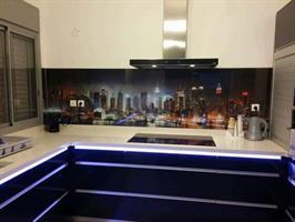 חיפוי זכוכית מודפסת למטבח1