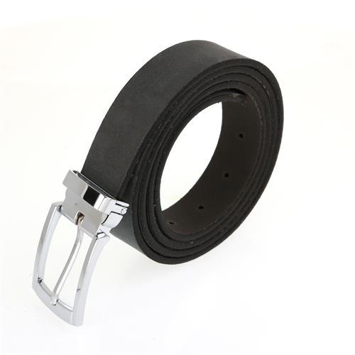 חגורה עור זמש שחור