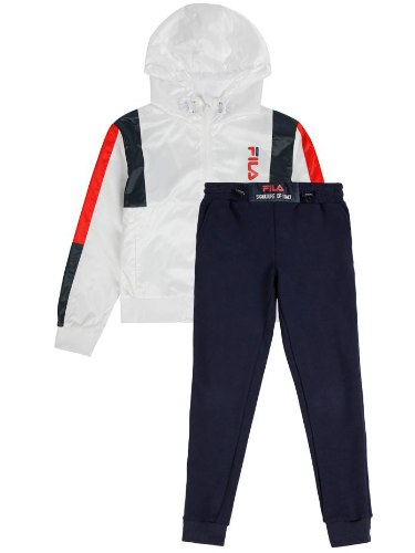 חליפת קפוצ׳ון ניילון כחול/לבן/אדום FILA - מידות 6-16