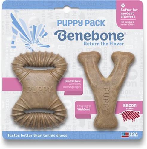 צעצוע בנבון לכלב עצם בנבון גורים 2 יח' ווישבון ושמיניה