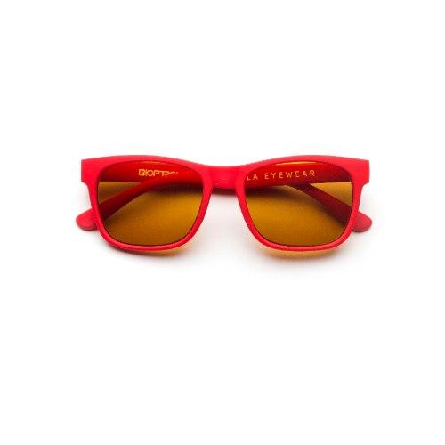 משקפי היפרלייט (נגד קרינה) לילדים, דגם THE-0401RD מסגרת אדומה
