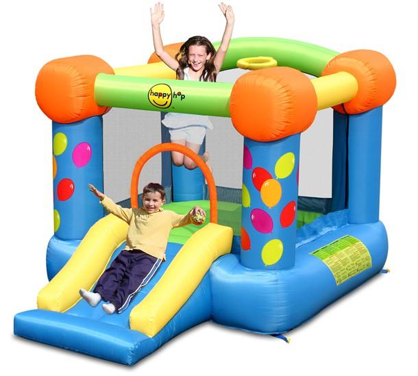 מתקן קפיצה המסיבה עם מגלשה הפי הופ - 9070  Party Slide And Hoop Bouncer Happy Hop