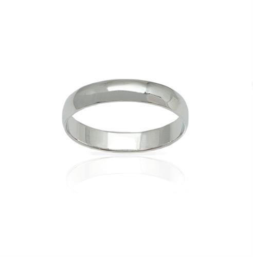 טבעת נישואין לגבר קלאסית חלקה 4 ממ רוחב