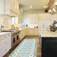 """שטיח פי וי סי למטבח """"אריחים""""  שטיח למטבח  שטיח פי וי סי   שטיח PVC   שטיחי פי וי סי מעוצבים"""