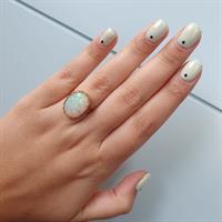 טבעת זהב 14K משובצת אבן חן אופל