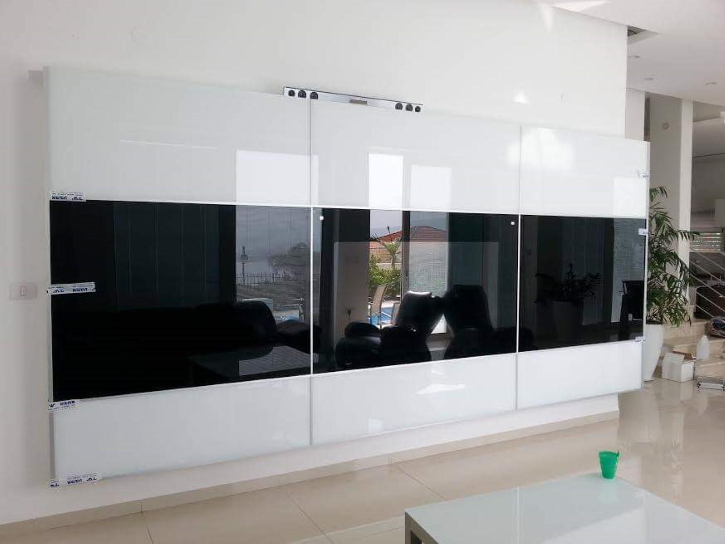 קיר מעוצב למסך טלויזיה