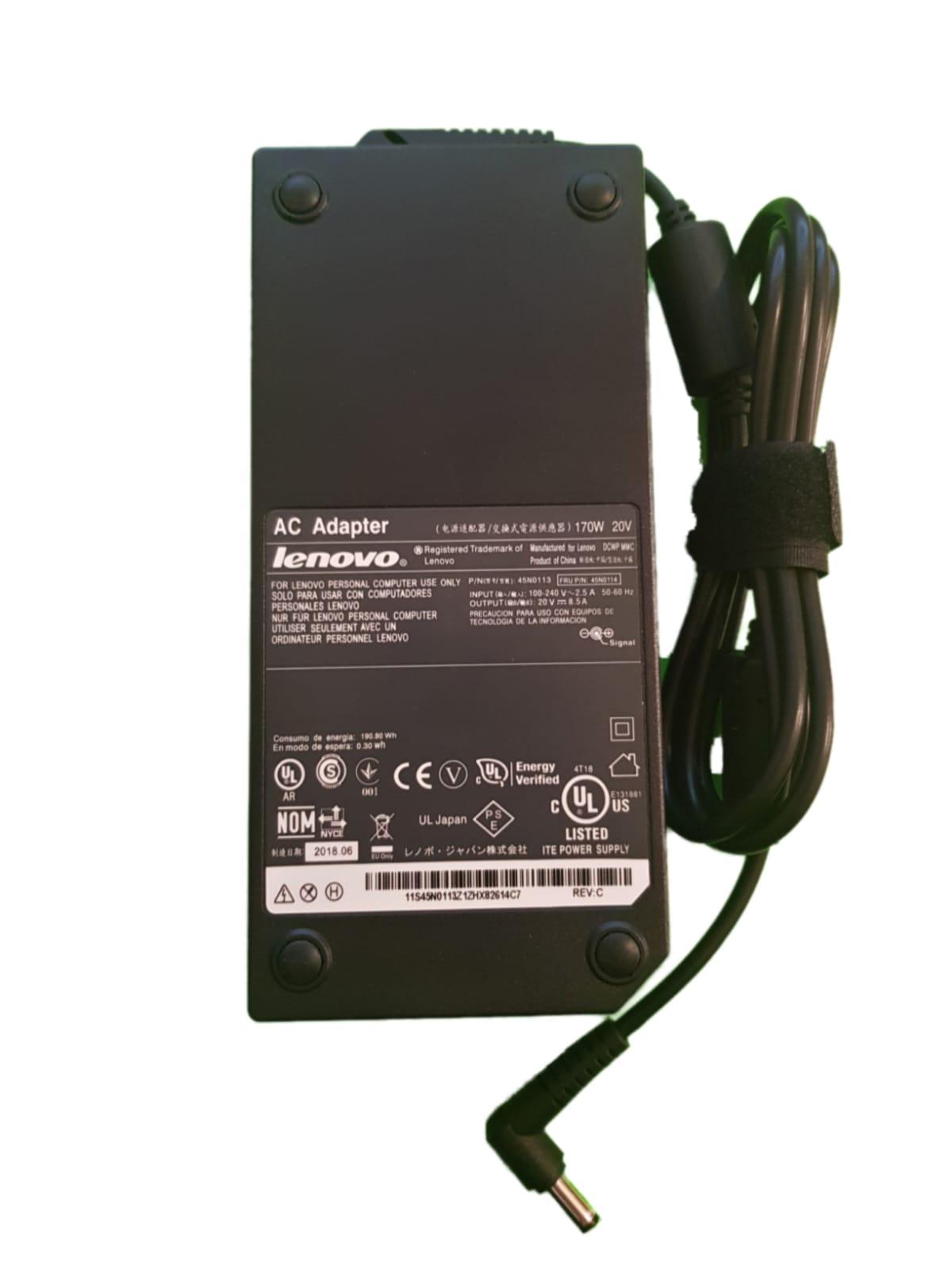 מטען למחשב נייד לנובו Lenovo 20V-8.5A 5.5*2.5 170W