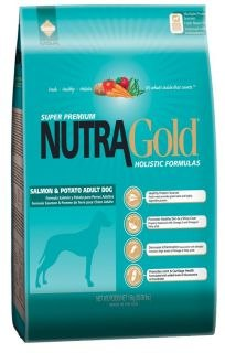 "נוטרה גולד הוליסטי  דגים 3 ק""ג - NUTRA GOLD HOLISTIC FISH AND RICE 3 KG"