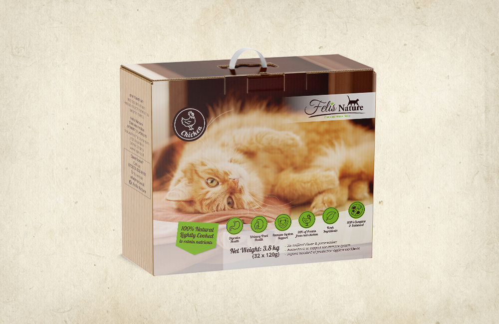 FELIS NATURE – מזון טבעי לחתולים 3.8 ק״ג