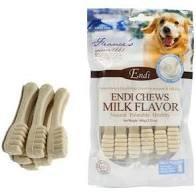 חטיף דנטלי לכלבים אנדי מברשת שיניים סידן 100 גרם - ENDI CHEWS MILK FLAVOR 100G