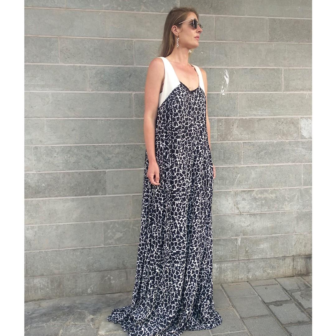 שמלת אואזיס הדפס סדקים