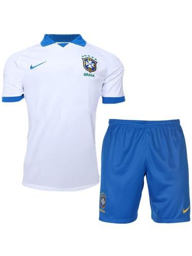 חליפת ילדים נבחרת ברזיל לבנה
