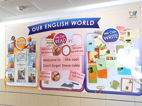 עיצוב סביבה לימודית באנגלית - למה ואיך?