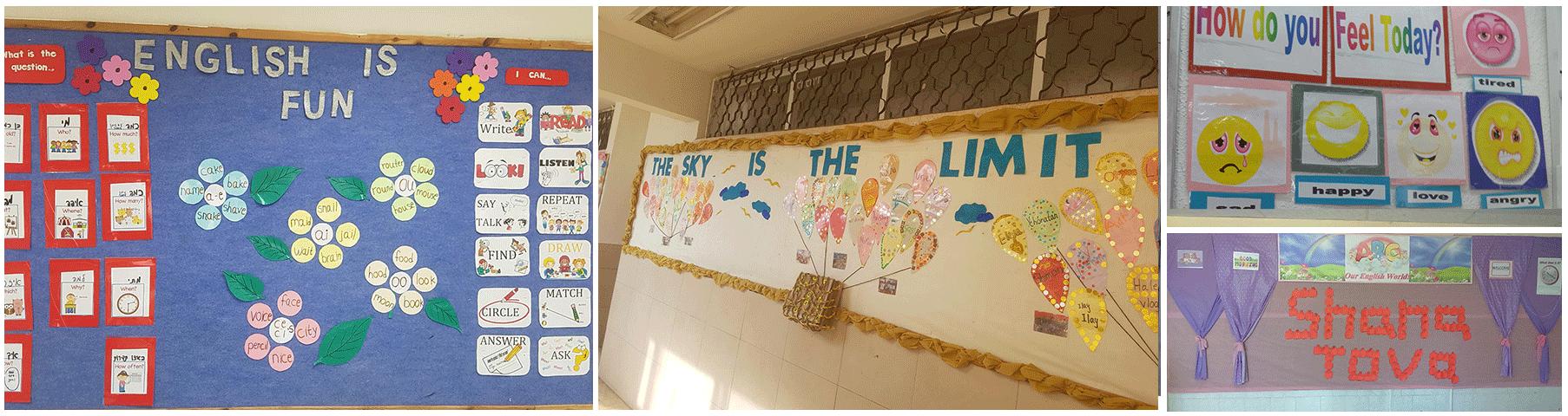 עיצוב פינת אנגלית בבית הספר במקום כיתת אנגלית