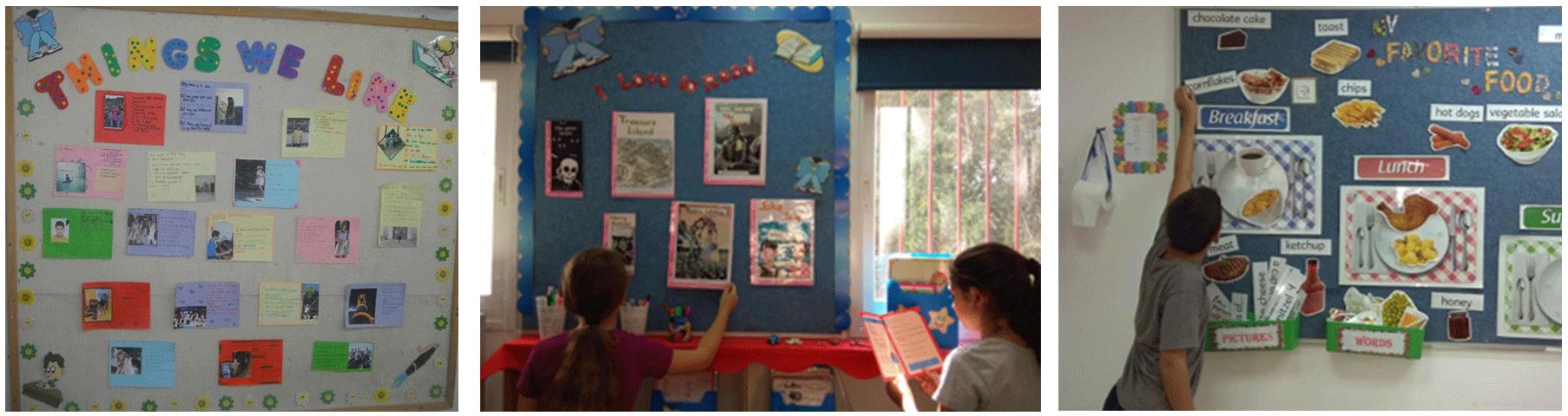 שיתוף נרחב של התלמידים בעיצוב הסביבה הלימודית באנגלית