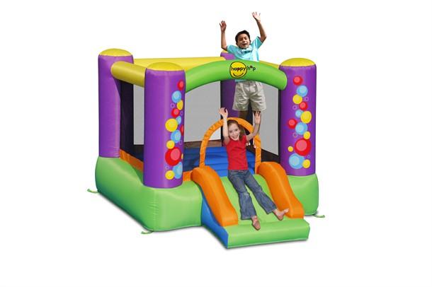 מתקן קפיצה מגלשת בועות וחישוק הפי הופ - 9201 - Bubble Slide And Hoop Bouncer Happy Hop