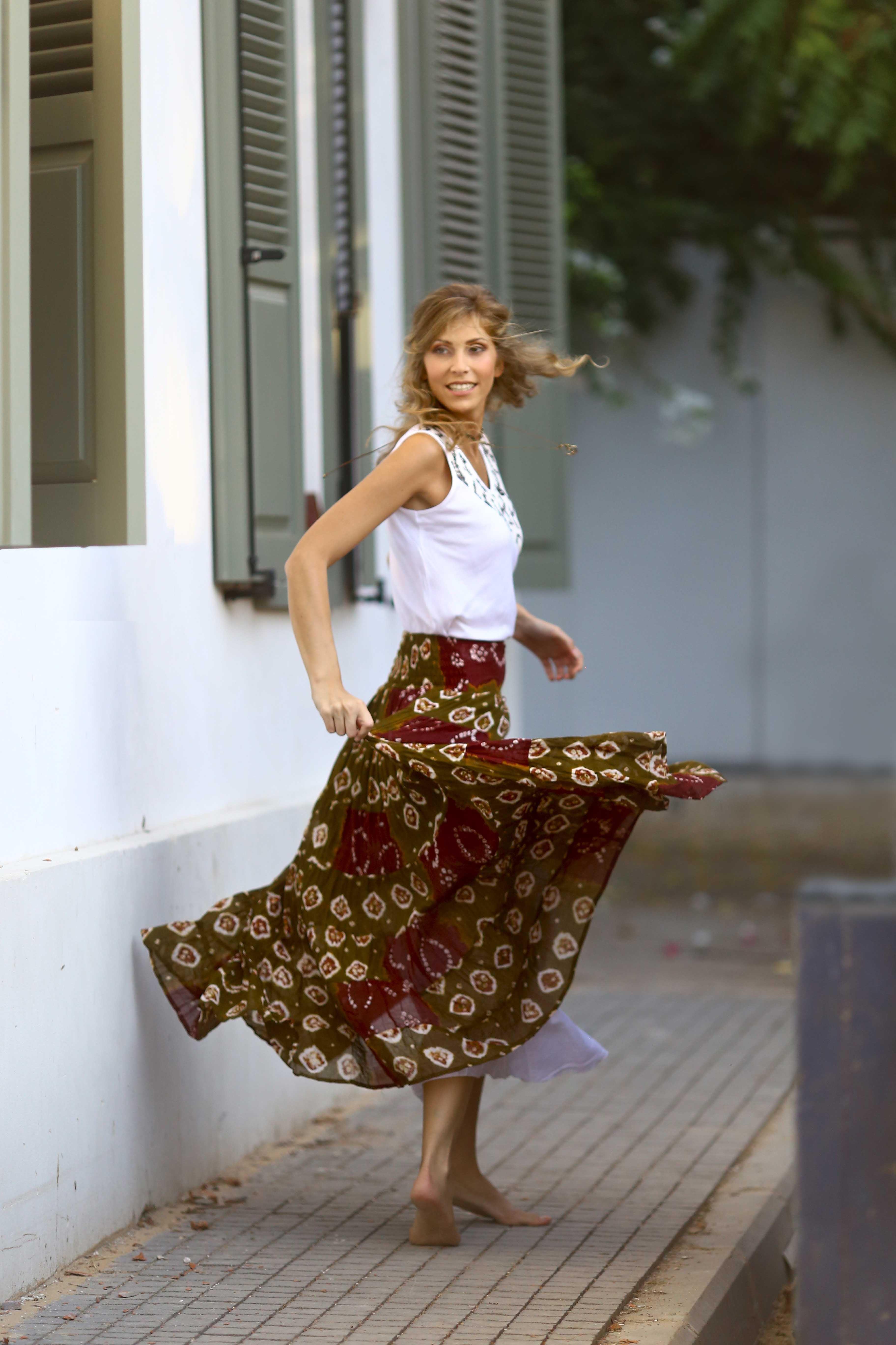 חצאית בהנדאני, צילום והפקה תהילה אור