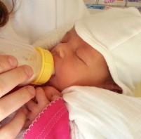 התינוק היונק והבקבוק