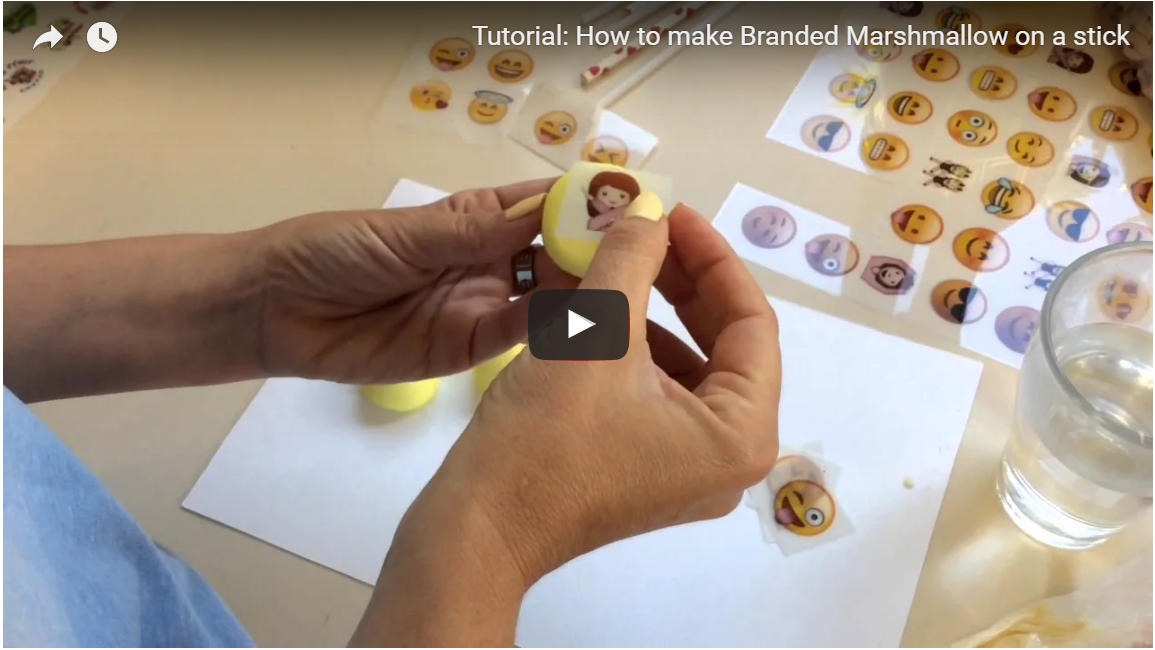 How to: make Branded Marshmallow on a stick