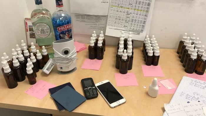 המשטרה תפסה עשרות בקבוקונים שע