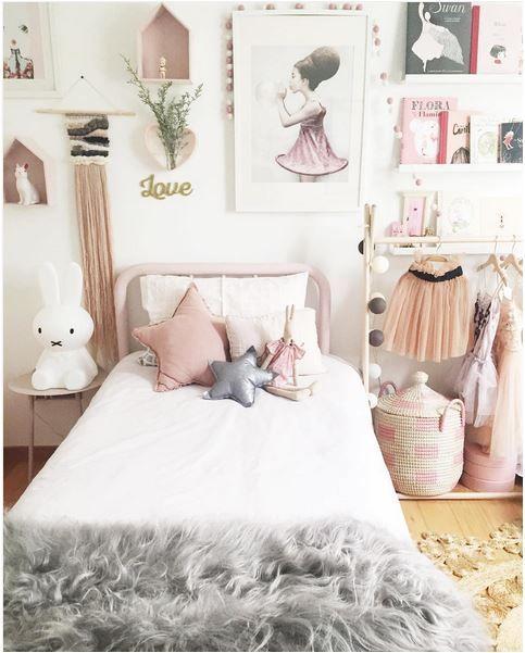 חדרי בנות באפור וורוד